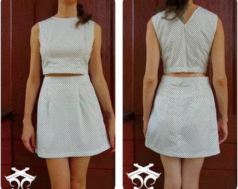 Polka Dot 60s Set\\ Matching Set\\ Skirt top Set