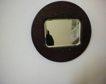 Mirror made from part of a  WW1 recycled Wood Propeller by Boulton and Paul