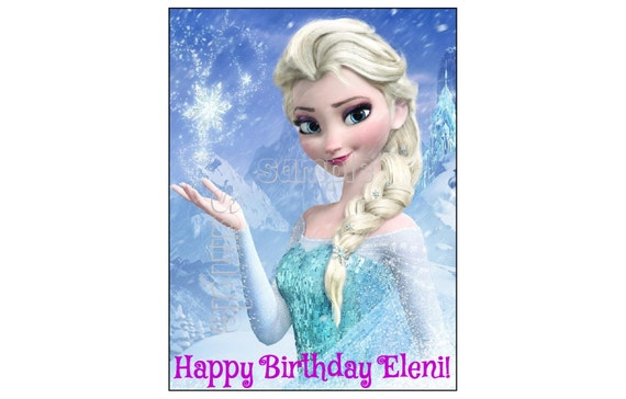 Elsa Edible Cake Decoration : FROZEN ELSA EDIBLE image cake topper decoration party birthday