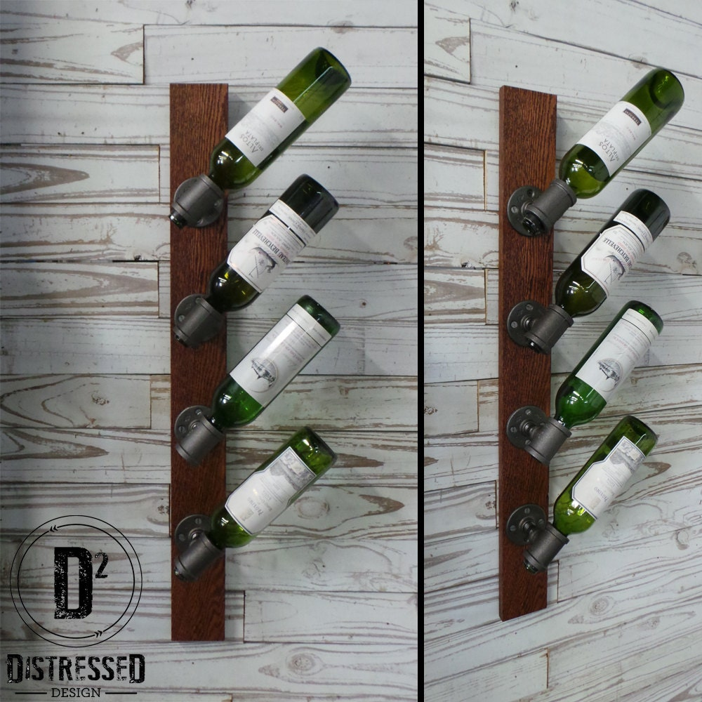 Black Iron Pipe Wine Rack