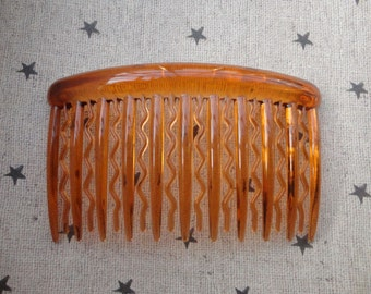 100pcs plastic Hair Combs (21 teeth)--Brown clear plastic hair comb 90x52mm  HA50