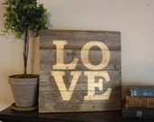 Repurposed Wood LOVE Sign- One of a kind