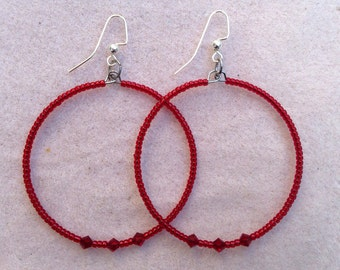 Red Christmas Hoops