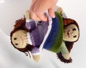 Reversible Knit Doll Cinderella, topsy-turvy doll