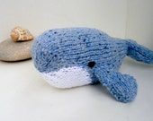 Blue Whale stuffed animal knit toy