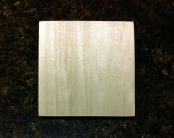 "Large 3/4"" Thick Unfinished Wood Square, 2.5"", 3"", 3.5"", 4"", 4.5"", 5"" or 5.5"" for Arts and Craft Projects"