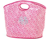MONOGRAMMED TOTE - Personalized Shopping Bag- Monogrammed Beach Bag- Personalized- Monogrammed with your initials or text- Large Bag