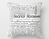 Eleanor Roosevelt Inspirational Quotes, Topography Home Decor Pillow Cover 18x18