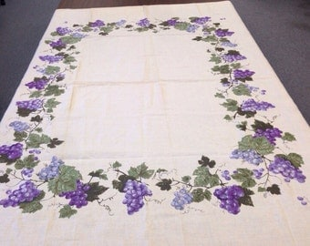 SALE!!! Vintage Luther Travis Tablecloth of Grapes