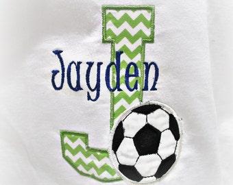 Custom Monogrammed Soccer Shirt