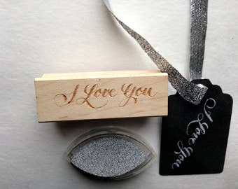 """Calligraphy """"I Love You"""" stamp"""
