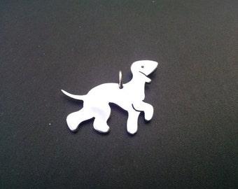 Bedlington terrier Sterling silver pendant