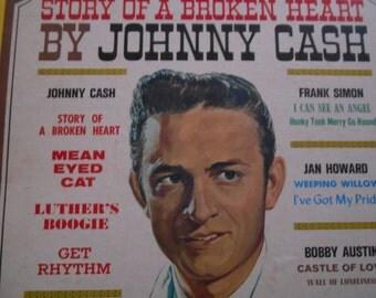 Johnny Cash Story Of A Broken Heart - vinyl record