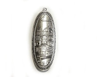 Large Silver Cathedral Charm - Basilica Charm