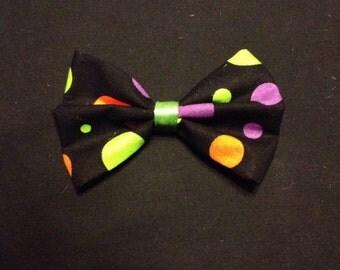 Halloween Polka-Dots Hair Bow