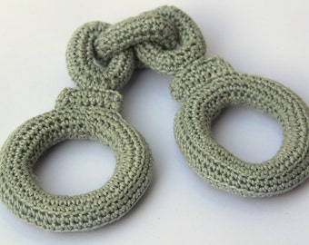 Crochet Hand Cuffs for little Policeman