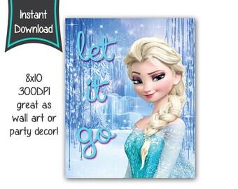 Frozen printables - 8x10 printables - DIY - digital file