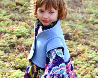 Girls' Sewing Pattern: Winnie Shrug sizes 3-6m, 6-12m, 12-18m, 18m-2, 3-4, 5-6, 7-8, 9-10  (PDF Digital Pattern)