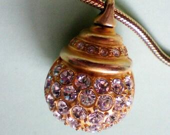 Glitter Ball Pendant on 34 Inch Snake Chain - 3133