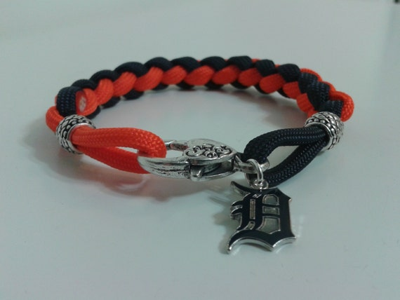 detroit tigers paracord bracelet by stonedelements on etsy