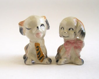 Party Dogs Salt and Pepper Shakers --Japan