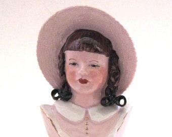 Ynez California Pottery Head Vase -- Ruth Ellen