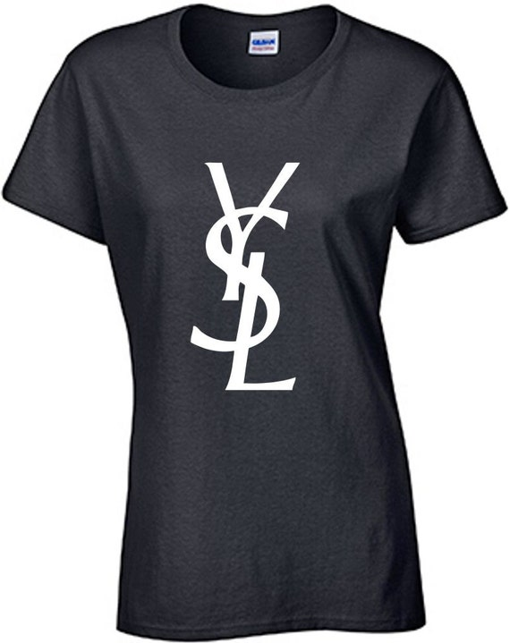 Ysl Logo T Shirt Women