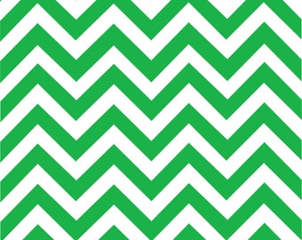 Green chevron craft  vinyl sheet - HTV or Adhesive Vinyl -  green and white large zig zag pattern   HTV106