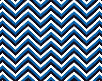 Blue, black and white chevron craft  vinyl sheet - HTV or Adhesive Vinyl -  chevron pattern vinyl HTV129