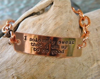 I solemnly swear that I am up to no good chain bracelet