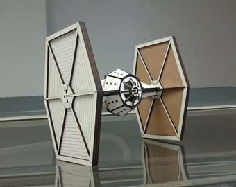 Star Wars Tie Fighter Wood Model Kit