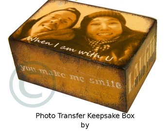 Photo Keepsake Box, Custom Photo Box, Wedding Box, Gift Box, Photo Transfer Box, Personalized Box, Wood Box