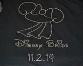 Bride Rhinestone Full Zip Hoodie with Minnie Bridal Hat