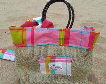 NEW ITEM!! Children's beach bag w. matching Summer Scarf