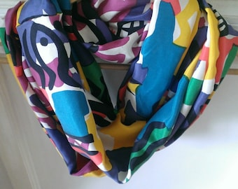 LIMITED EDITION ITEM! Adult Lightweight Infinity Scarf -- 100% Silk ****Only 1 Available****