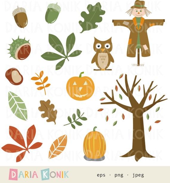 Herbst Clip Art SetHerbst Clipart Blätter Baum
