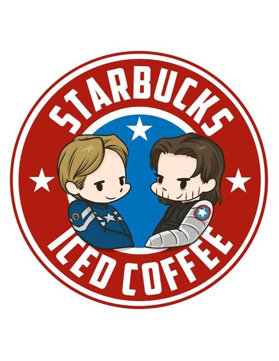 Items similar to Starbucks Iced Coffee fanart print ...