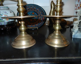 CHINESE CANDLE HOLDERS Signed