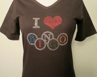 I Heart Bingo Rhinestone Shirt