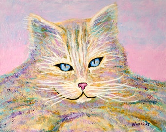 """Original Abstract Acrylic Painting """"MISSY"""" by Napolske Fine Art"""