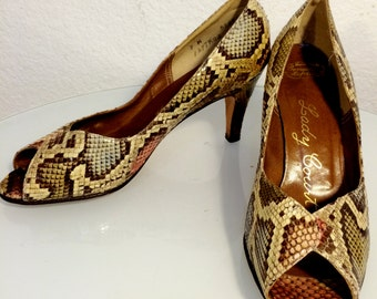 FREE  SHIPPING  Python Snake Heels  1980's