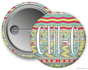 ChiO Chi Omega Aztec Sorority Greek Button