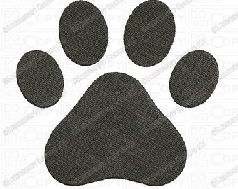 Dog Paw Embroidery Design in  2x2 3x3 4x4 and 5x5 Sizes