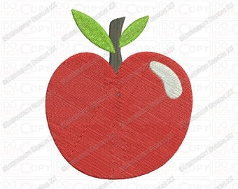Apple for Teacher Embroidery Design in 2x2 3x3 4x4 and 5x7 Sizes