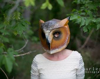 Owl mask - Make your own with this simple PDF Download