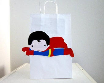 Superhero Goody Bags, Superhero Favor Bags, Superhero Birthday Favor, Goody, Gift Bags - Flying