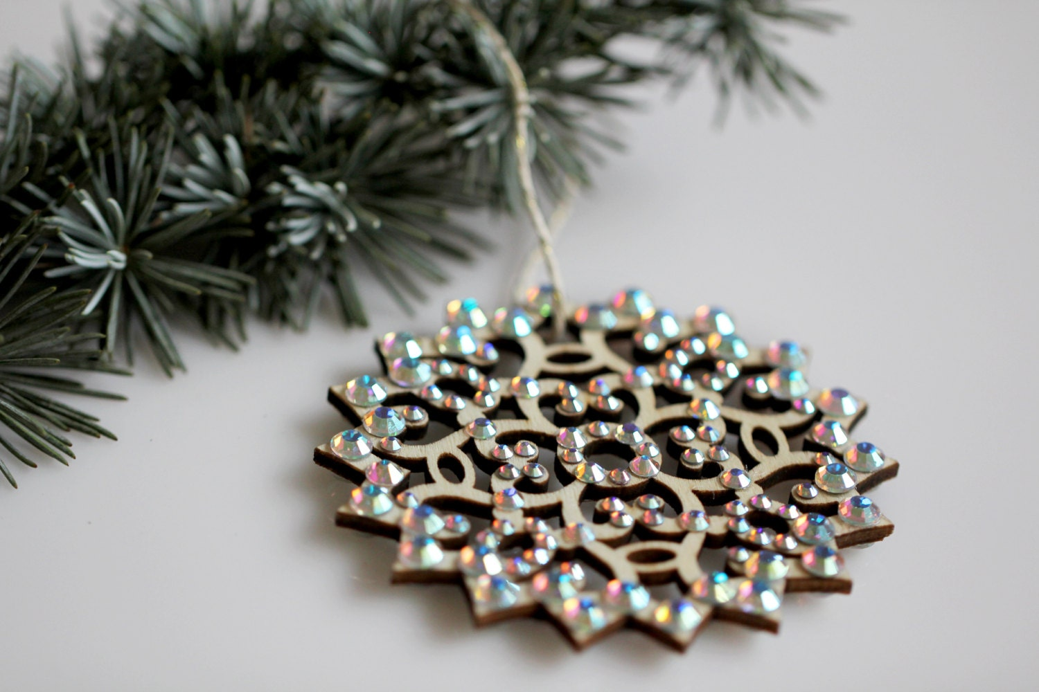 Swarovski Christmas Ornament Crystal AB Christmas Decoration Sparkly Snowflake Luxury holiday housewarming gift aurora borealis