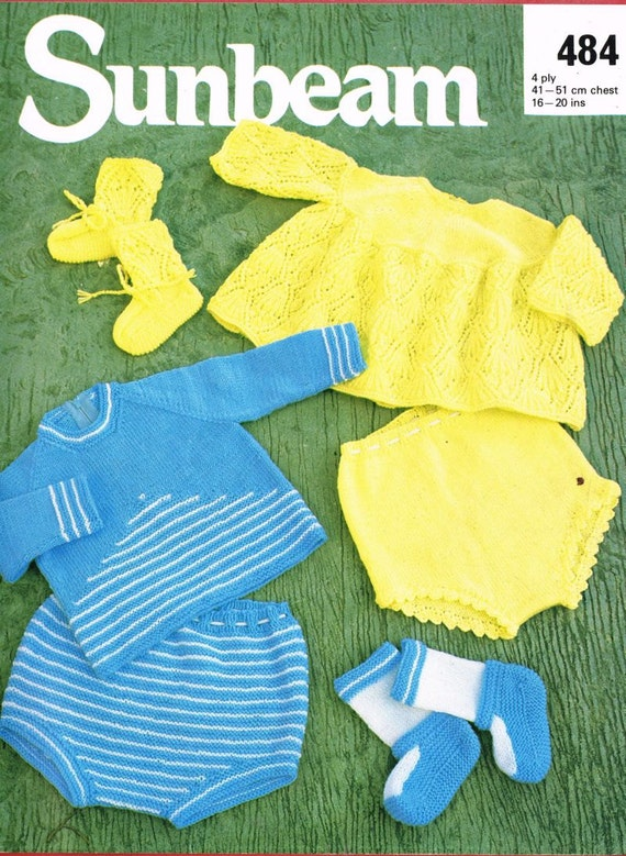 Sunbeam Knitting Patterns : Sunbeam 484 baby pant suit vintage knitting pattern PDF instant download from...