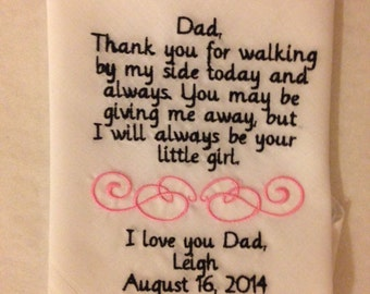 Personalized Father of the Bride Hankie
