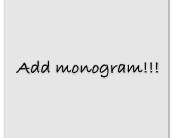 Add a monogram